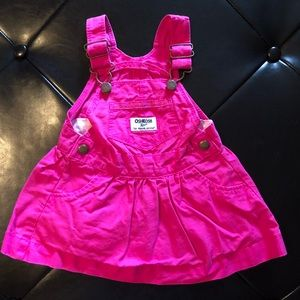 OshKosh pink overall dress